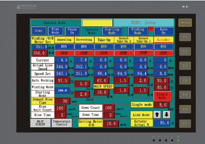 PLC program control & HMI interface, easy to operate and data memorize.